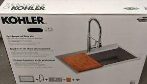 Kohler Pro-Inspired Kitchen Sink Kit, Model R78957-1PC-NA   #2 (1724)