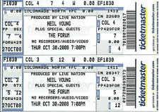 Neil Young 2008 The Forum Two Original Unused Concert Tickets