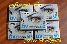Super Tdk Dvm-60Me Mini Dv Digital Camcorder Tapes / Cassettes - Pack Of 5