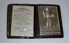 vintage Pocket prayer FRANCIS ASSISI prière religion catholic metal