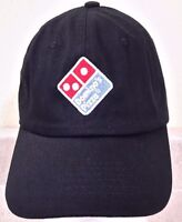 DOMINO'S PIZZA DELIVERY BLACK BASEBALL CAP LOGO STITCHED EMBROIDERED STRAPBACK