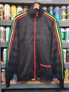 Adidas Mens Large Rasta Reggae Tracksuit Jacket Track Top Vintage Retro Rare