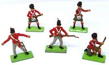 Vintage BRITAINS NAPOLEONIC DEETAIL. 5 x BRITISH Waterloo infantry.