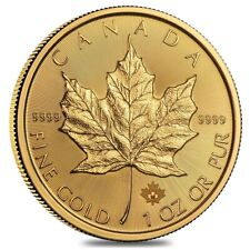 1 oz Canadian Gold Maple Leaf $50 Coin (Random Year)