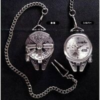Star Wars Pocket Watch Clock Millennium Falcon Silver From Japan 2019