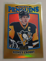 2016-17 OPC Platinum Sidney Crosby Gold Hockey Rainbow Parallel Card # 073/149