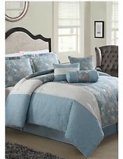 Lifestyles Home 7 Piece Queen Size Bed Comforter Set Jada Bedding With Pillows