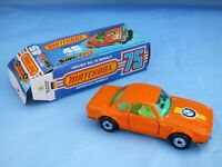 Vintage 1976 Matchbox Superfast 45 BMW E9 3.0 CSL Orange Diecast Car Toy Boxed