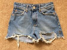River Island Ripped Distressed Denim Shorts Size 8