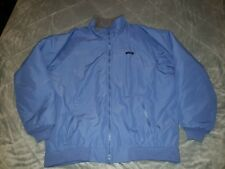 Lands' End Men's Tall XLT 46-48 Blue Squall Windproof Fleece Lined Zip Up Jacket