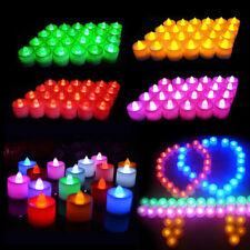 100/200PCS SmartLight Flameless Battery LED Tea Light Candles Tealights Bathroom