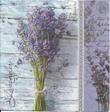 Lot de 4 Serviettes en papier Bouquet de Lavande Decoupage Collage Decopatch