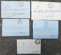 1859 199) LOTTO LETTERE INVIATE A LICATA AL MARCHESE CANNARELLA CANNADA