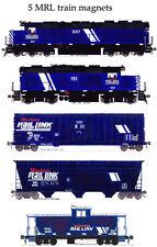 Montana Rail Link Locomotives and Train set of 5 magnets Andy Fletcher