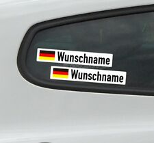 2x Flagge + Name Autoaufkleber Rennsport Motorsport Rally Wunschname Aufkleber