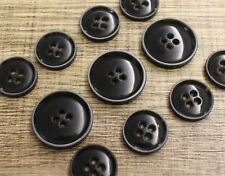11pcs Dark Grey Men Clothing Italy Suit Faux Horn Button Set Blazer Bespoke DIY