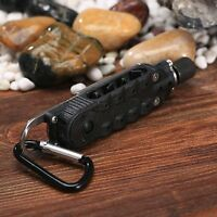 Black Multi Use Outdoor EDC Tool Bottle Opener Screwdriver Wrench with LED Light