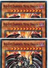 Red-Eyes Darkness Metal Dragon SR02-EN009 1st  X 3 Mint  YUGIOH