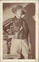 Cowboy Actor Charles DeRoche c1920s-30s Postcard