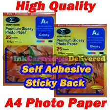 50 x HQ A4 135gsm Gloss Self Adhesive Premium Glossy Photo Paper Sticker Label
