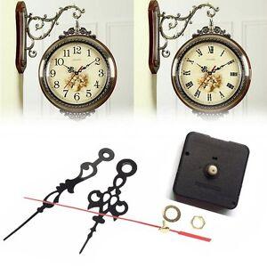 Black Long Spindle Hands Quartz Clock Movement Mechanism DIY Repair Tool Set UK
