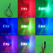 10pcs 5mm Slow Flashing Colorful RGB Flash Red Blue Green LED 9V-12V Pre-Wired
