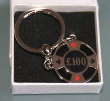 £100 Poker Chip Keyring - Gift *New *