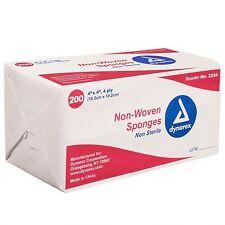 200 Gauze Sponges Dynarex 4 x 4 4 ply Non-Woven Bandages Wound Non-Sterile 3254