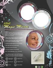 4 TRAVEL MAKEUP MIRROR WITH LED LIGHTS  INCLUDES 4 MIRRORS