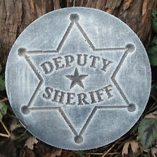 Deputy Sheriff plastic mold plaster concrete casting mould