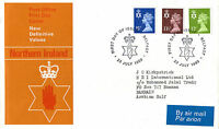 23 JULY 1980 ALL 3 N IRELAND REGIONAL DEFINITIVES PO FIRST DAY COVER BELFAST SHS