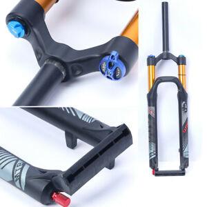 """26"""" Mountain Bike Air Suspension Front Fork Adjustable 120mm MTB Bike Fork USA"""