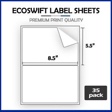 70 85 X 55 Ecoswift Shipping Half Sheet Self Adhesive Ebay Paypal Labels