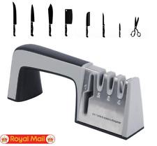 4 in 1 Diamond Coated & Fine Ceramic Rod Knife Shears and Scissors Sharpening UK