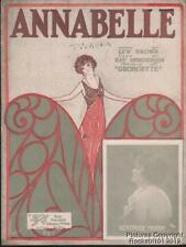 1923 Lew Marrón & Ray Henderson Carpeta Lámina (Annabelle)
