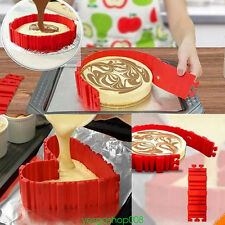 4Pcs HQ DIY Design Shape Magic Red Color Silicone Cake Molds Tool Decor Cooking