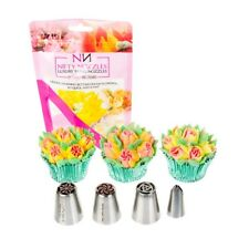 3 x Nifty Nozzles Plus Leaf Tip - Genuine Russian Flower Piping Tips