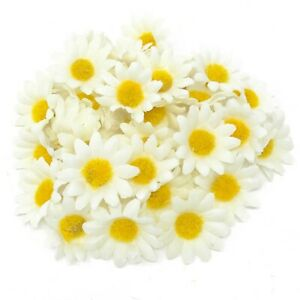 White 35mm Mini Daisy Decorative Synthetic Flowers (Faux Silk) - UK SELLER