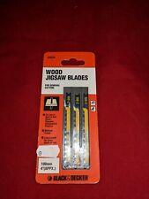 Black and Decker jig saw blades  /