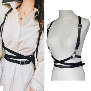 Faux Leather Body Bondage Harness Waist Suspenders Belt Straps Cage Belts  ZB RO