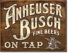 Anheuser Busch On Tap large metal sign 410mm x 320mm (sf)