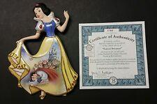 "Disney Bradford Ex Wall Plaque w/cert 2006 Snow White ""Fairest Dreamer"" Limited"