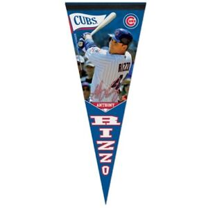 """ANTHONY RIZZO CHICAGO CUBS PREMIUM QUALITY PENNANT 12""""X30"""" BANNER"""