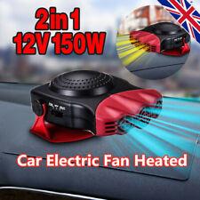 Defrost&Defog Car Heater Mini Electric Fan Heated Windshield Windows Glass UK
