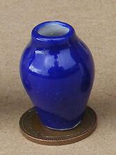 1:12 Scale Single Blue Vase Dolls House Miniature Ceramic Ornament Accessory B53
