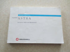 1998 Vauxhall Astra automobile owner's manual