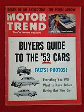 Motor Trend April 1953 Buyers Guide Facts & Photos - Pierce Arrow - Motorama