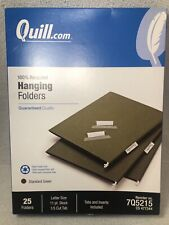 Quill Hanging Folders Letter Size 11pt 1/5 Cut 25Ct Office Supply Organize7q5215