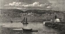 Riviere du Loup/Fraserville on the St Lawrence, Grand Trunk Railway Quebec, 1862