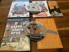GTA San Andreas & Grand Theft Auto 3 III UK Sony PS2 Instructions + 1x Map VGC